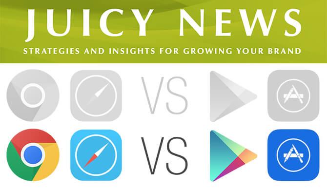 Juicy News - March 2014 web vs app