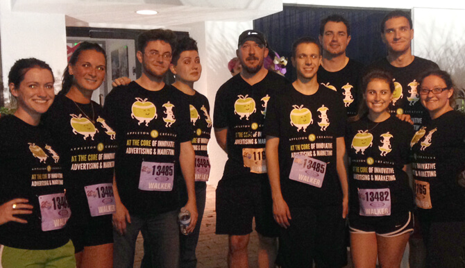 Appleton Creative Corporate 5K team