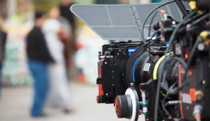 video camera marketing shoot