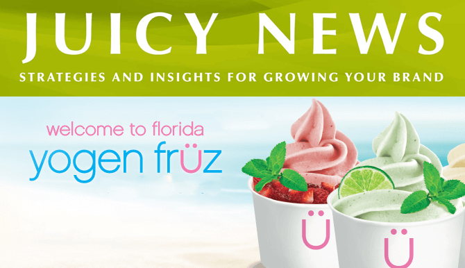 Juicy News - Welcome to Florida Yogen Fruz