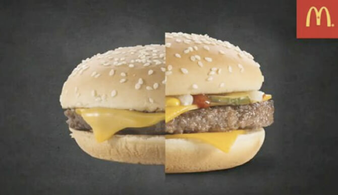 McDonald's burger real vs. ad