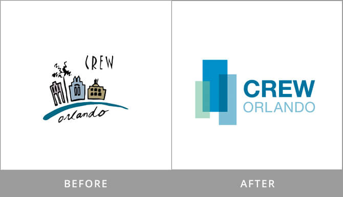CREW logo redesign old/new