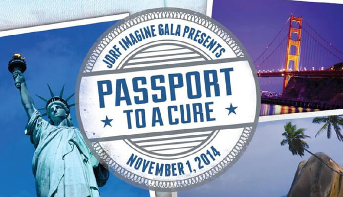 JDRF Imagine Gala Passport to a Cure badge