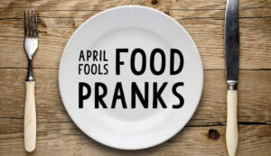 Food Panks & Tasty Tricks for April Fools' Day dinner plate