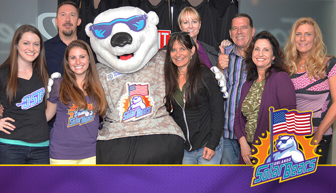 Appleton Creative Celebrating Our Clients and Our Military with the Solar Bears