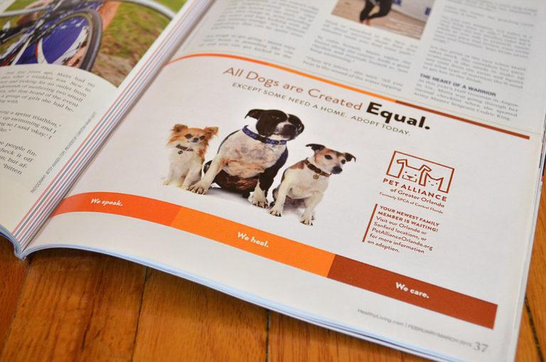 Pet Alliance of Greater Orlando magazine ad