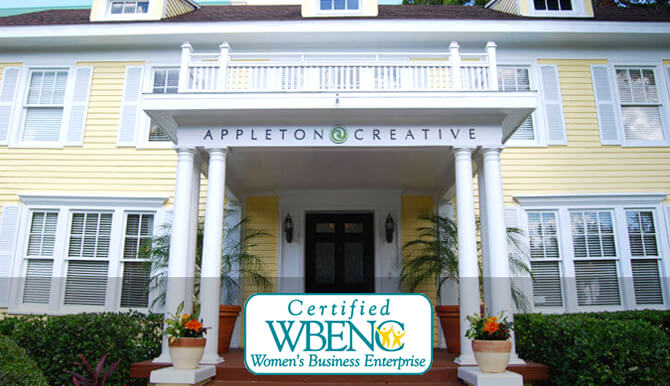 Appleton Creative is certified by WBENC