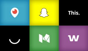 6 new social media platforms periscop, snapchat, this., ello, medium and whisper