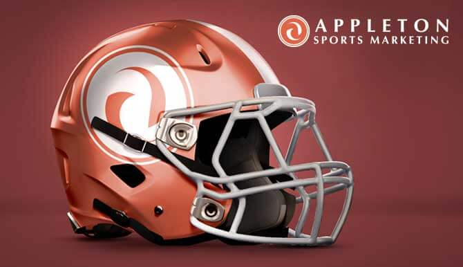 Appleton Sports Marketing Football Helmet