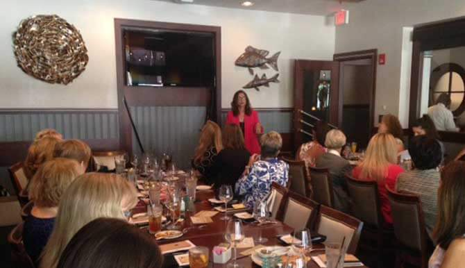 diana larue orange apeal may lady luncheon