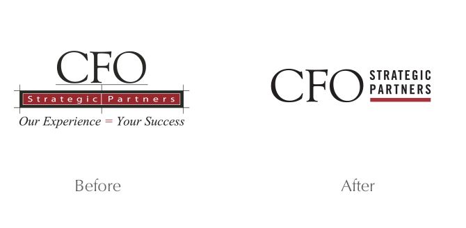 before and after of cfo strategic partners logo