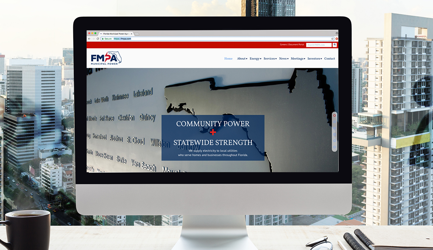 FMPA website created by florida web design company