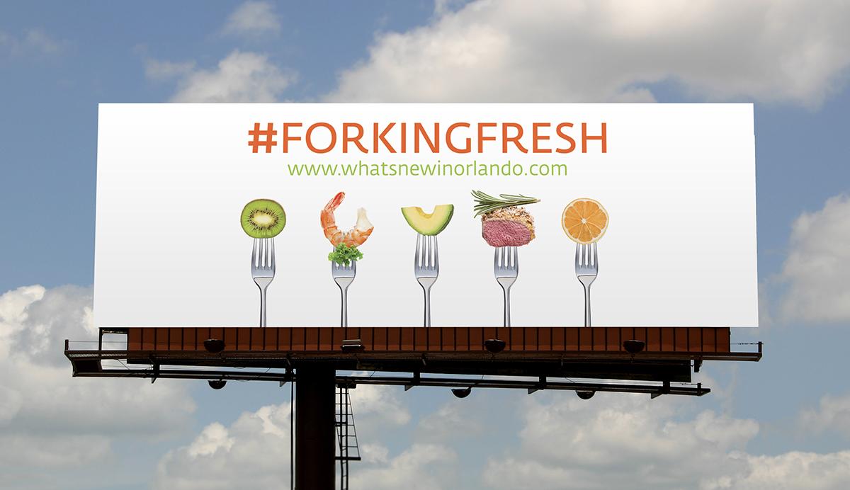 creative food billboards
