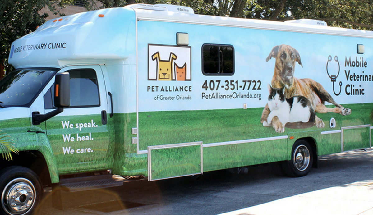 pet alliance of greater orlando bus wrap
